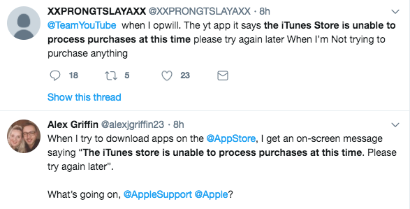 Fix The iTunes Store is Unable to Process Purchases at This