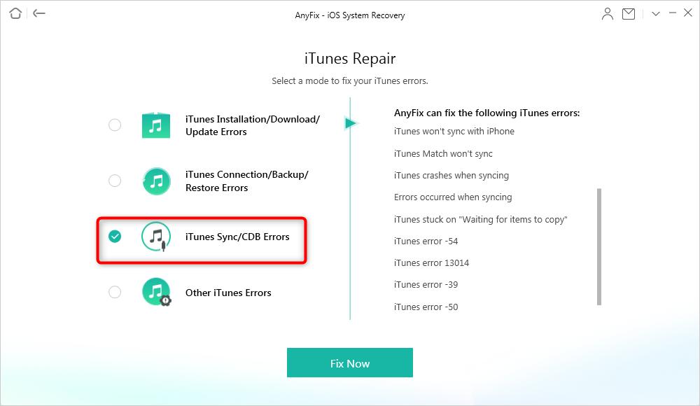 Fix iTunes Sync Error