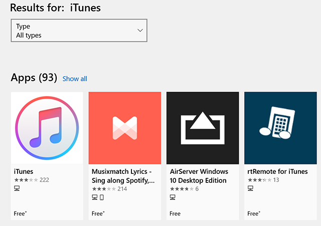 Download iTunes from the Microsoft Store
