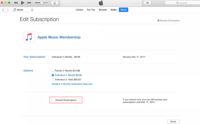 How to Fix iTunes Waiting for Sync to Start via Turn off iTunes Match - Step 3