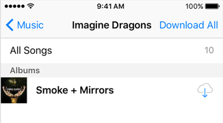 Restore the Deleted Music via iCloud