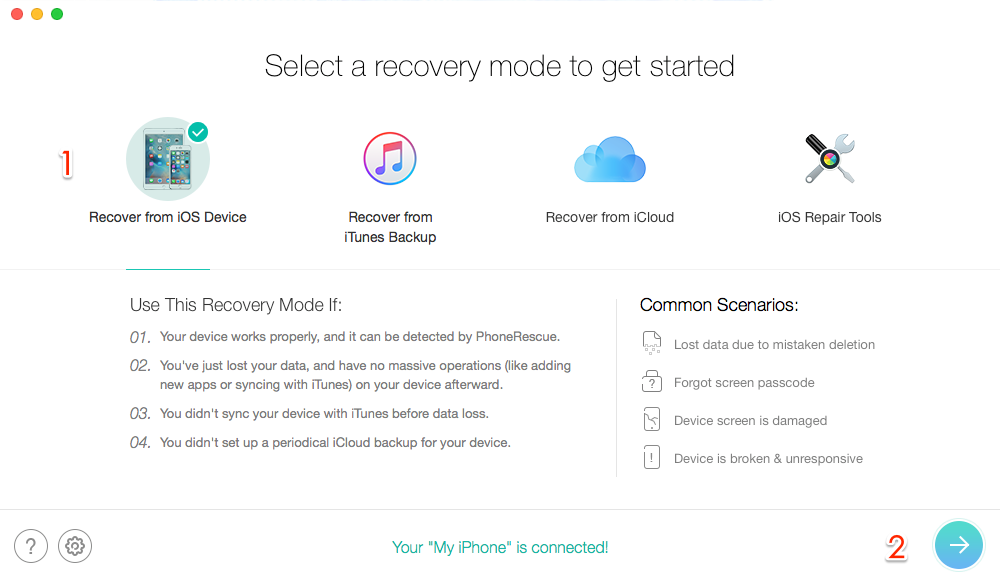 Recover Deleted Music from iPhone – Step 1