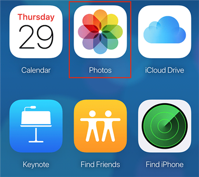 Access your photos on the iCloud website