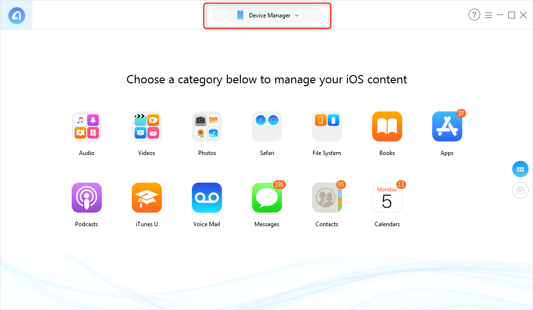 Easily Manage iPhone Data via AnyTrans for iOS