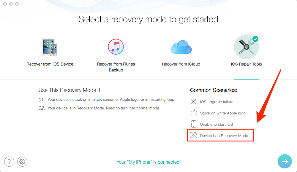 Fix iPhone iPad Stuck in Recovery Mode