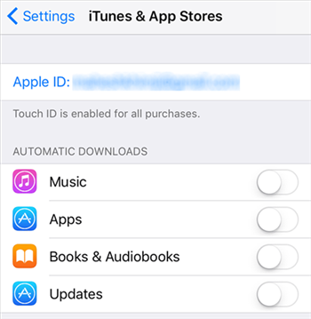 Verify the Apple ID on your iOS Device