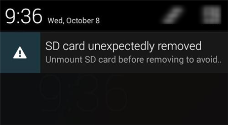 My Phone Keeps Saying SD Card Removed