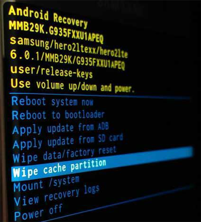 """Fix """"Unfortunately the Process.com.android.phone Has Stopped"""" via Wipe out the Cache Partition"""