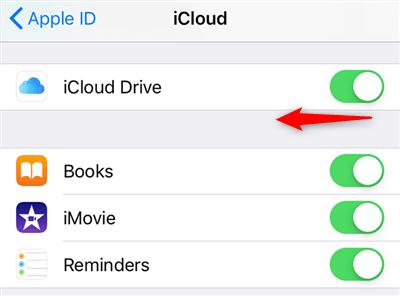 Turn on iCloud Drive