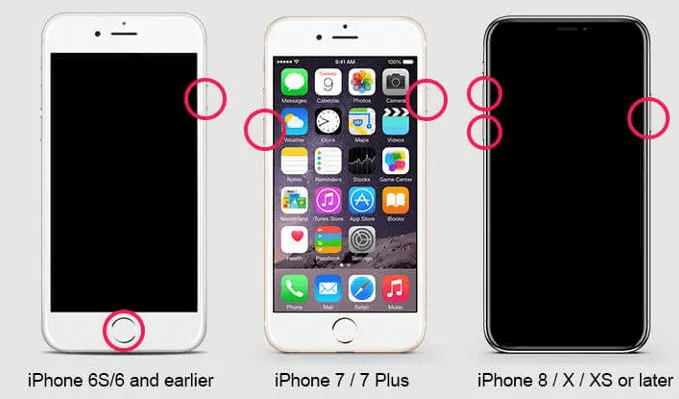 Force Restart Methods of Different Models iPhone