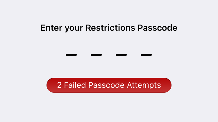 Forgot Restrictions Passcode on iPhone