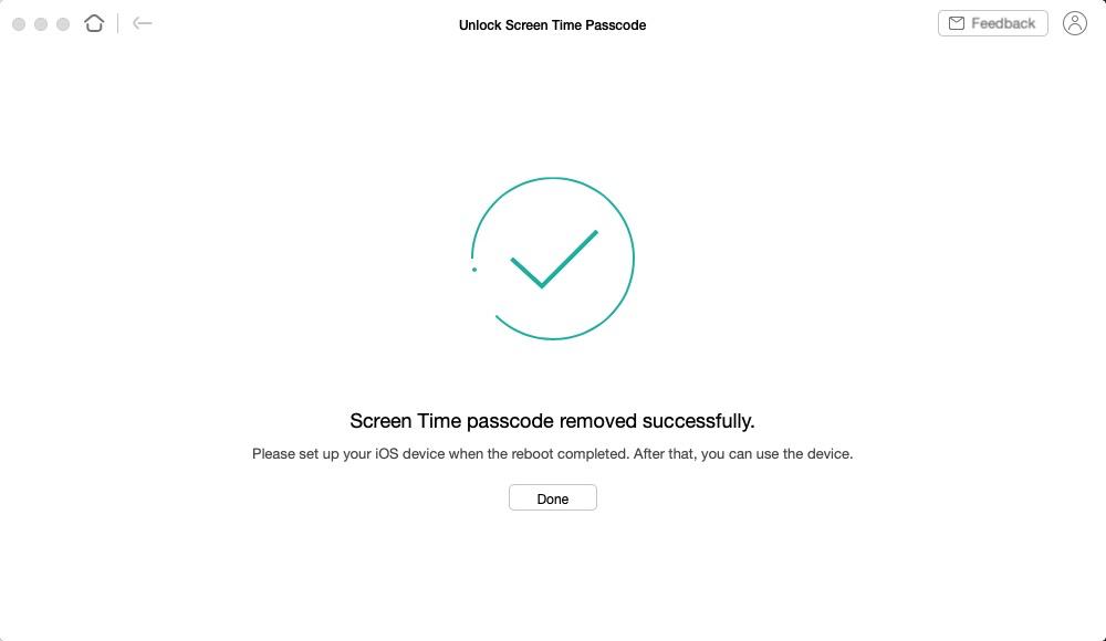 Successfully Remove Screen Time Passcode via AnyUnlock
