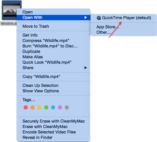 How to Use QuickTime to Convert Videos on a Mac – Step 1