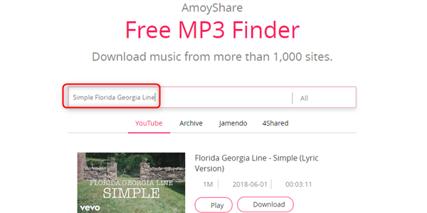 Free Download Simple MP3 –AmoyShare
