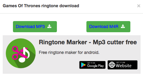 Free Download Game of Thrones Ringtone for iPhone