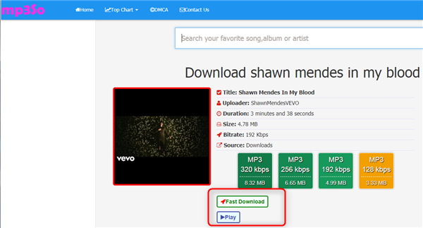 Free Download Shawn Mendes In My Blood MP3 – Mp3so