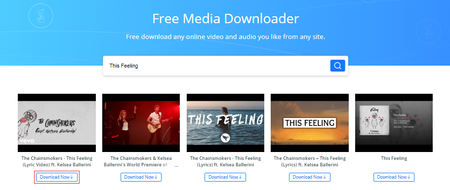 How to Free Download The Chainsmokers This Feeling mp3 via AnyGet - Step 1