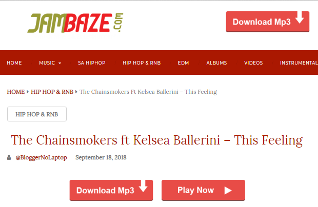 How to Free Download The Chainsmokers This Feeling mp3 via Jambaze.com