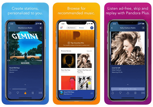 Top 5 Free Offline Music Apps for iPhone - Pandora Radio
