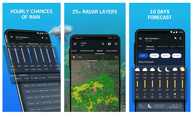 1Weather - an award winning weather app