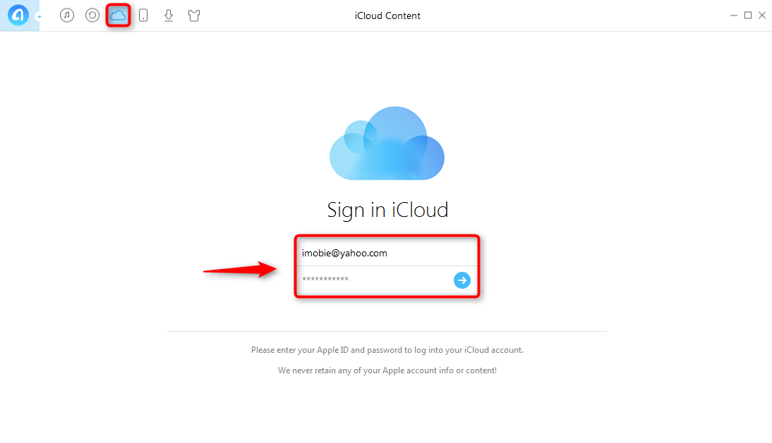 How to Manage More iCloud Storage Space with AnyTrans - Step 1