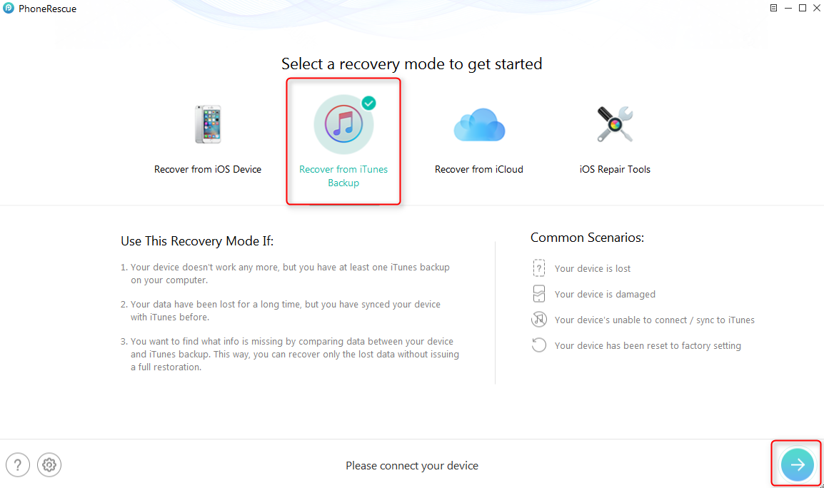 How to Recover Deleted Voice Memos from iPhone with Backups - Step 1