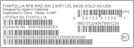 Get IMEI on iPhone from Packing Box