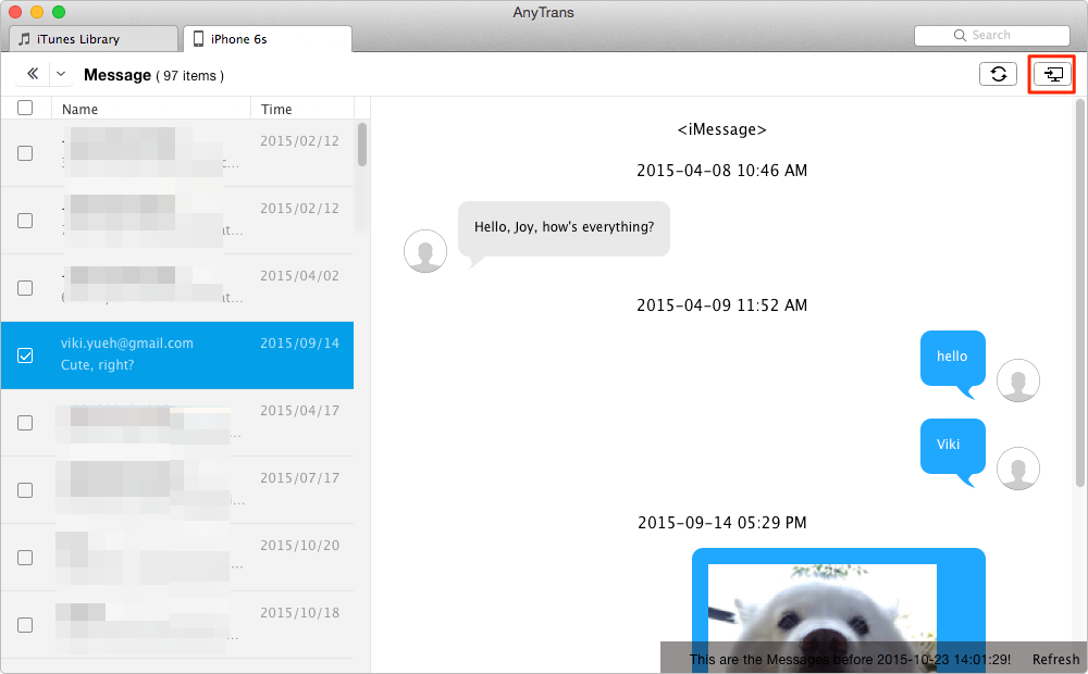 How to Get iPhone Messages on Mac – Step 3