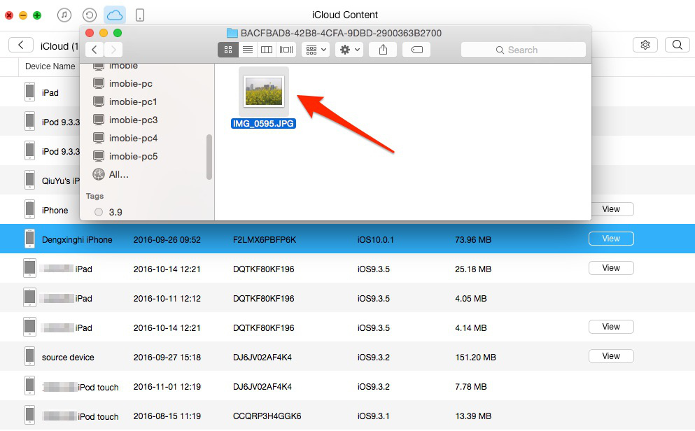 How to Get Photos from iCloud Backup with AnyTrans – Step 4