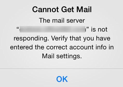 iPhone Gmail Not Working - The Mail Server is Not Responding