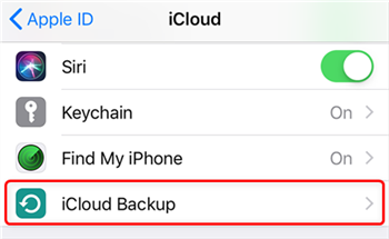Access your iCloud Backups