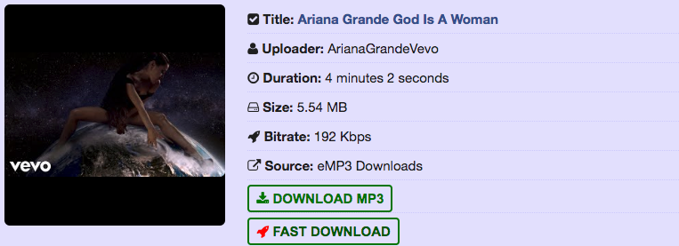 Free Ariana Grande God Is A Woman Mp3 Download