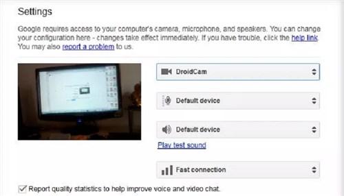 Google Plus Hangout Webcam from Phone via USB