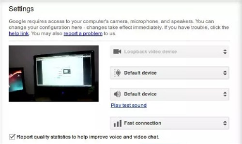 Google Plus Hangout with Android as Webcam via WiFi