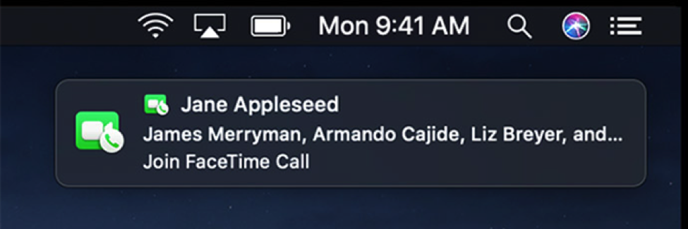 Accept or Decline a Group FaceTime Call on Mac