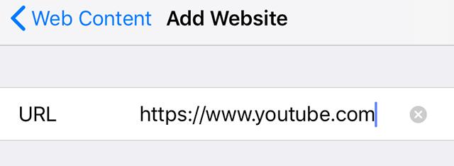 Block YouTube on iPhone