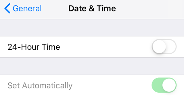 Set Time Automatically on iPhone