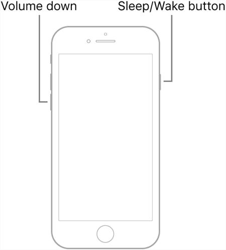 Hard Reset an iPhone 7