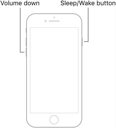 Hard reset the iPhone 7