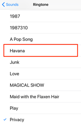 Set Havana as iPhone Ringtone