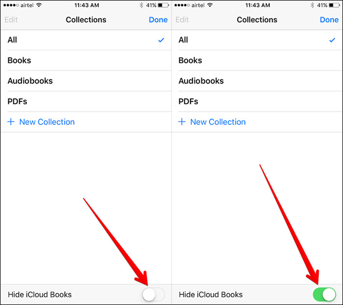How to Hide iCloud Books in iBooks on iPhone – Step 3