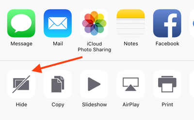 How to Hide Multiple Photos/Videos on iOS 9 – Step 3