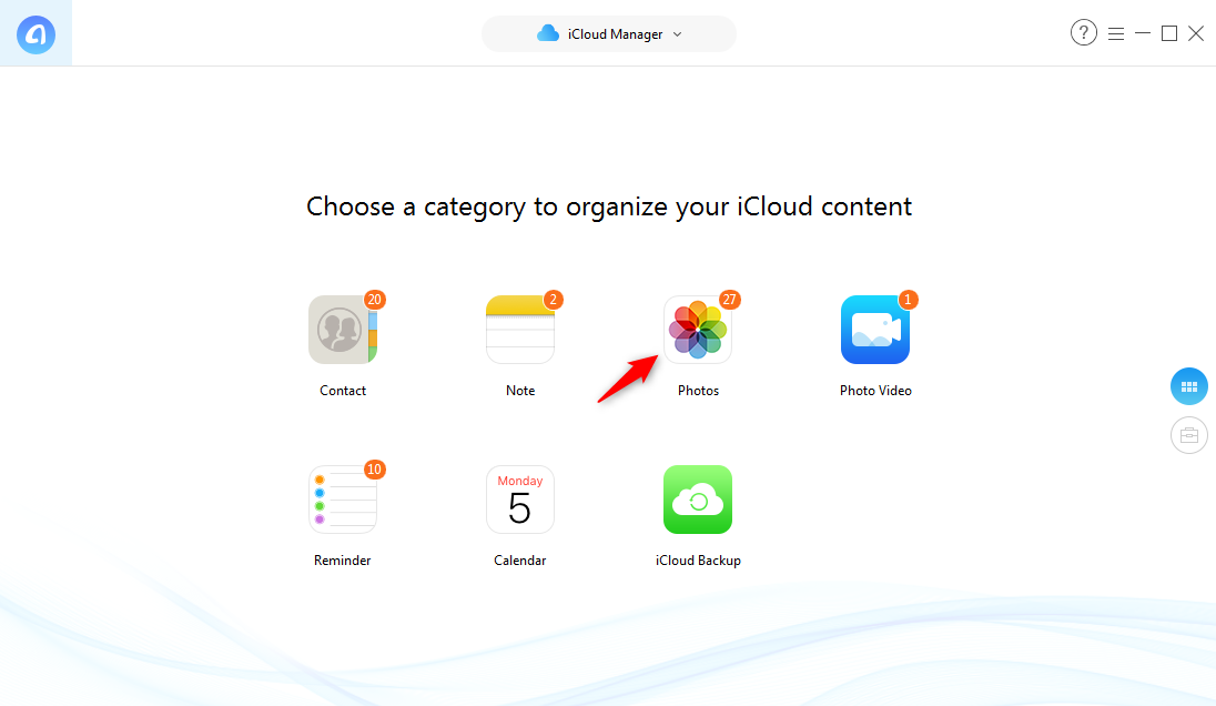 How to Add Photos to iCloud from Computer - Step 2
