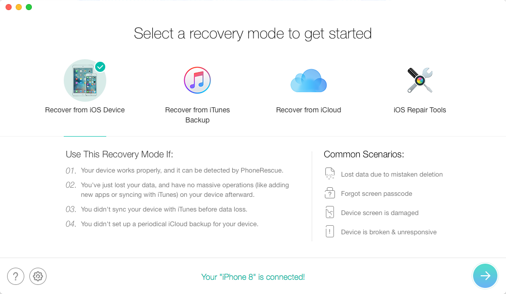 PhoneRescue for iOS Overview