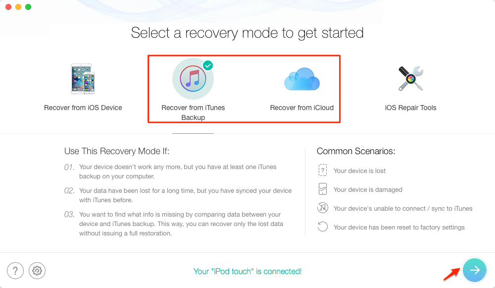How to View iPhone Backup with PhoneRescue