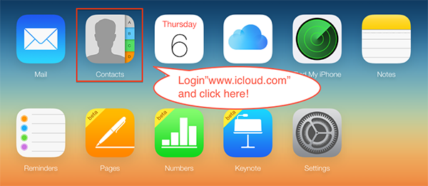 How to Get Contacts from iCloud via iCloud Website – Step 1
