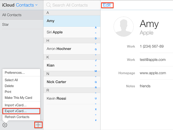 How to Access iCloud Contacts via iCloud Website – Step 2