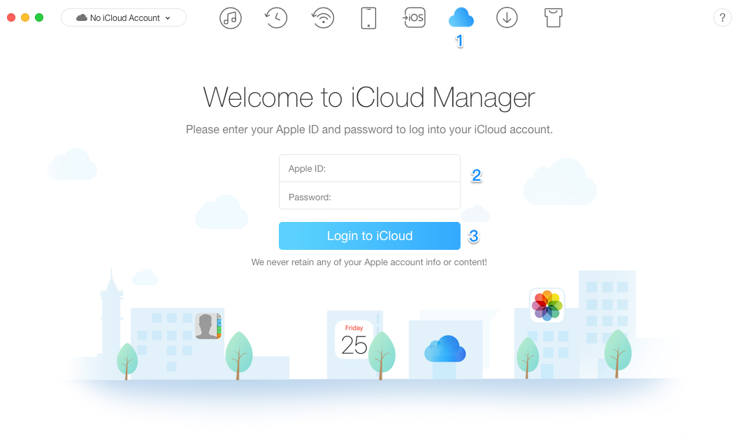How to Get Contacts from iCloud with AnyTrans – Step 2