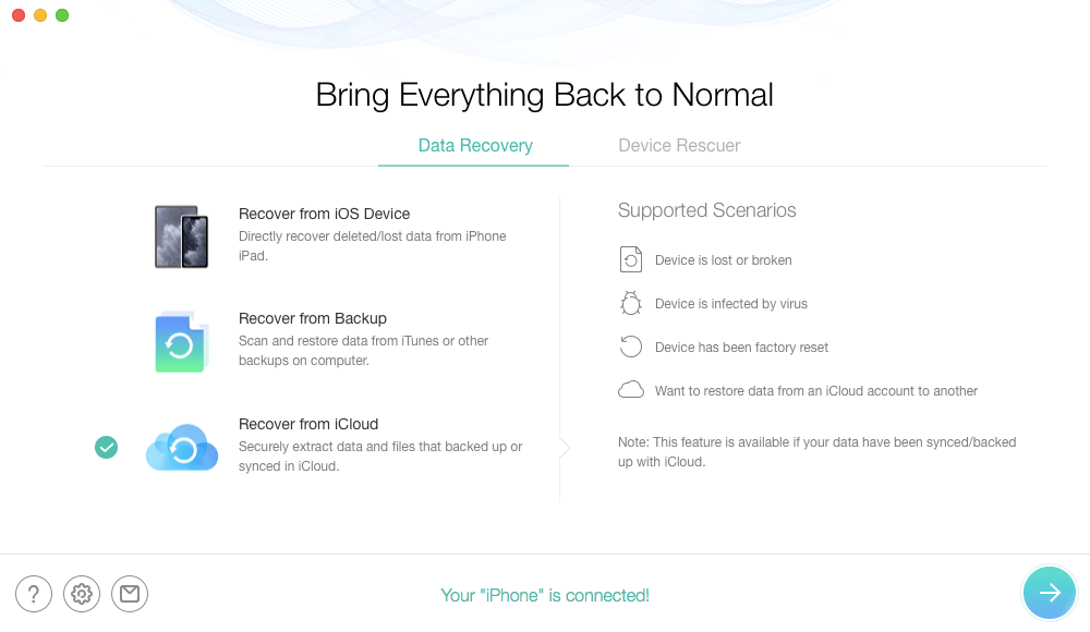 How to Access iCloud Backup – Step 1