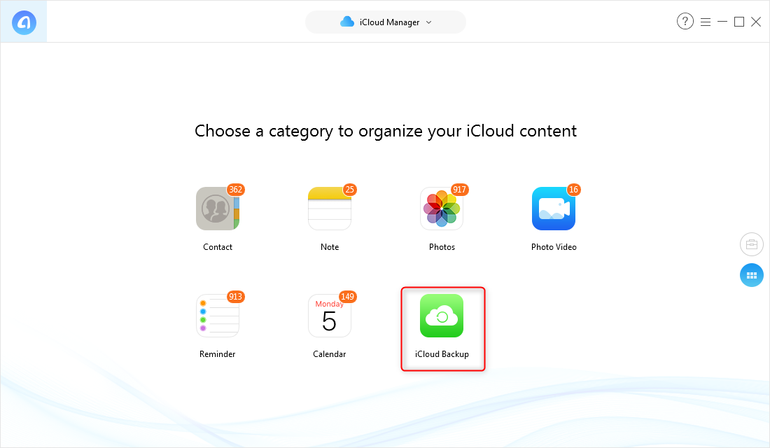 How to View iCloud Backup – Step 3